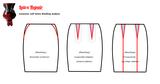 Patroon rok aanpassen figuurnaden coupenaden makkelijk eenvoudig latex kleding maken