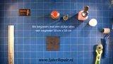 Rechte naad plakken in latex kleding repareren workshop cursus online waar volgen 02 hoe
