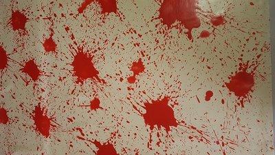 Exklusiver Latex - Blut spritzt