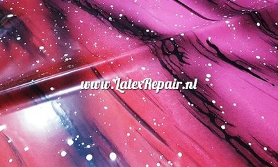 Exclusief latex - Galaxy Ombré Pink Red