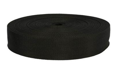 Keperband NYLON grof 4 cm zwart