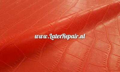 Exclusief latex - Structured Croco Red ±0.60