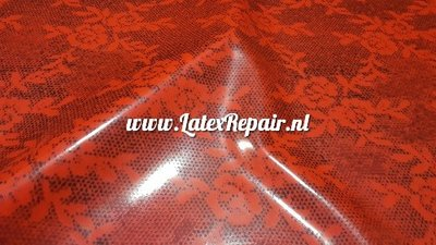 Exclusief latex - Zwart/rood kant