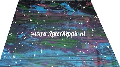 Exclusief latex - Galaxy multi colour #02