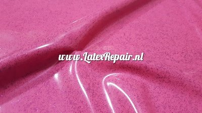 Exclusief latex - Pink/Violet glitter, pink latex