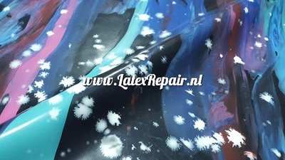 Exclusief latex - Galaxy colourful fluffy stars
