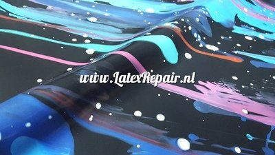 Exclusief latex - Galaxy colourful sharp stars