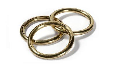 O-ringen, hol, goudkleur