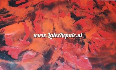 Latex exclusif  - Mix of black, plum, red, orange