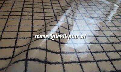 Exclusief latex - Wit latex zwarte water ruit