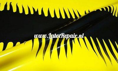 Exclusief latex - Spikey dragon zwart yellow 1271
