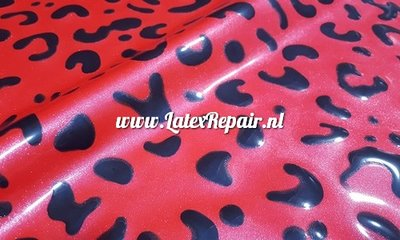 Exclusief latex - Patroon Leopard 14 metallic