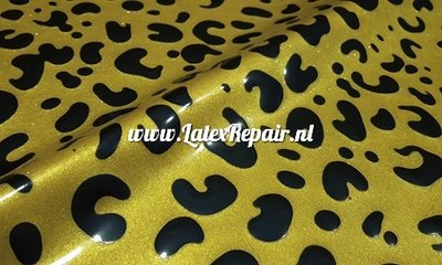 Exclusief latex - Patroon Leopard 15 metallic