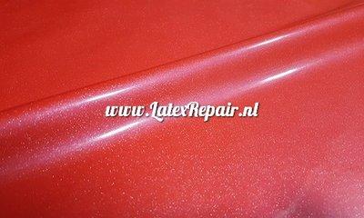 Exclusief latex - Metallic fris rood 1280