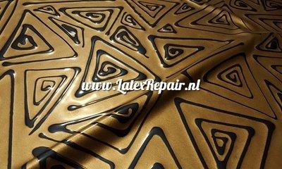 Exclusief latex - Metallic brons zwarte driehoeken 1286