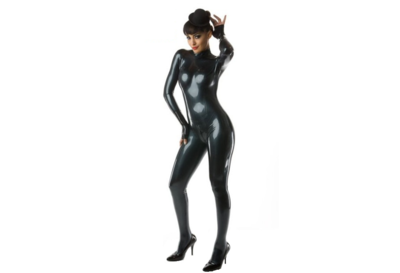 Latex dikte 0.80 | Metallic zwart /petrol