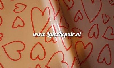 Exclusief latex - Patroon Hartjes 4