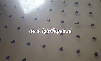 Exclusief latex - Patroon Hartjes klein 3