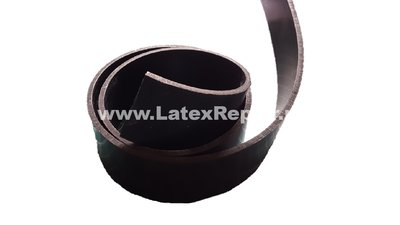 Heavy rubber strip 6 cm wide - 2 mm thick