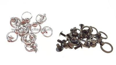 Halsband ring met knop