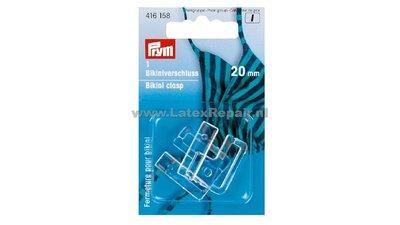 Bikinisluiting 20 mm stevig plastic