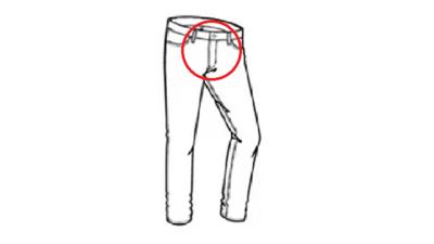 05d Legen Sie einen Reißverschluss für Jeans ein