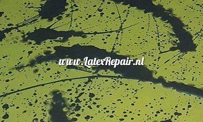 Olijfgroen natuurlijk groen latex spetters splatter splashes 01