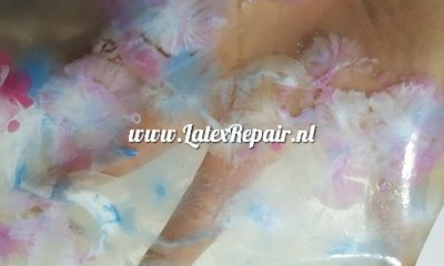 transparant latex flower look 01