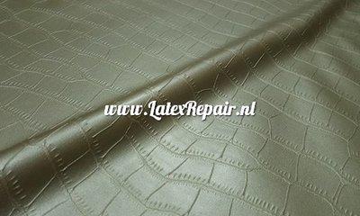 crocodile krokodil latex sheet metallic goud gold 01 latexrepair