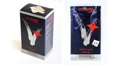 vivishine fresh up doekjes wipes voor latex