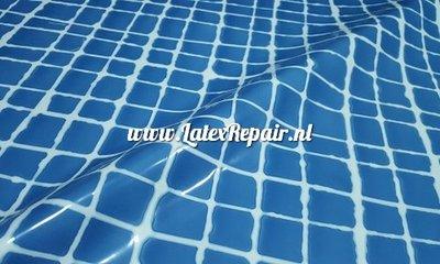 latex blauw wit geruit