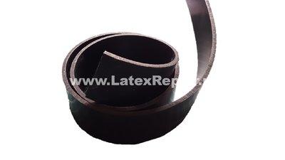 Heavy rubber latex stroken riem zelf maken halsband collar nek stevig dik