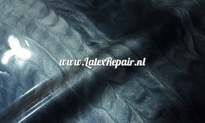 Latex sheet -  Stripes metallic zilver/zwart 1213