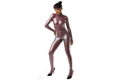 Electric lila lilac latex   dun en dik stevig glimmend latex om zelf latex kleding te maken en te repareren per meter groothand
