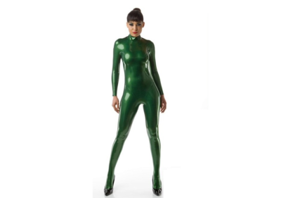 Metallic groen latex dun en dik stevig glimmend latex om zelf latex kleding te maken en te repareren per meter bewaren