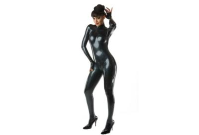 Metallic zwart latex  dun en dik stevig glimmend latex om zelf latex kleding te maken en te repareren per meter super dik