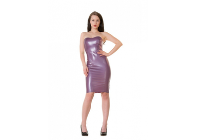 Pearlsheen lila latex  dun en dik stevig glimmend latex om zelf latex kleding te maken en te repareren per meter ontwerpster