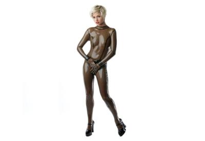 Transparant zwart  dun en dik stevig glimmend latex om zelf latex kleding te maken en te repareren per meter aanbieding