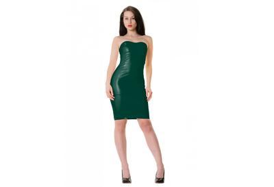 Forrest green latex  dun en dik stevig glimmend latex om zelf latex kleding te maken en te repareren per meter