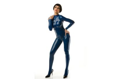 Nacht blauw latex dun latex om zelf latex kleding te maken en te repareren