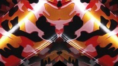 Camouflage rood rose goud zwart 01