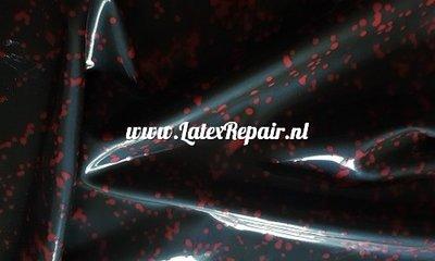 Zwart latex rode spetters voor cosplay halloween jurk ipv kopen zelf maken