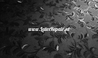 Latex sheet met structuur relief 3d blaadjes bloemen damast
