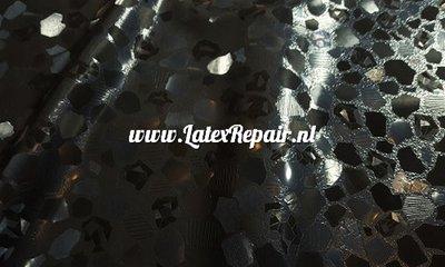 3d latex stof glasscherven relief structuur om zelf latex kleding van te maken zoals een jurkje