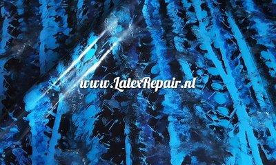 Latex sheet fabric stof blauw blue blau