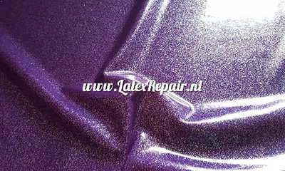 Glitter latex effect sheet violet paars purple