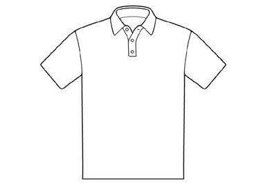 Patroon poloshirt voor latex kleding te maken