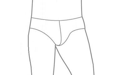 Patroon om zelf een latex herenslip te maken van latex