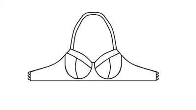 Patroon voor een latex bh te maken kleine maten grote maten groot klein met beugels 01