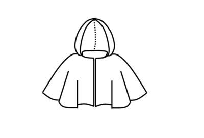 Patroon latex cape met capuchon roodkapje cosplay monnik
